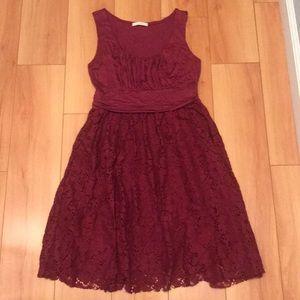 Mai Tai Dress, Raspberry Red, Lace & Stretch